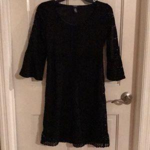 Alfani Black Lace 3/4 Sleeve Dress